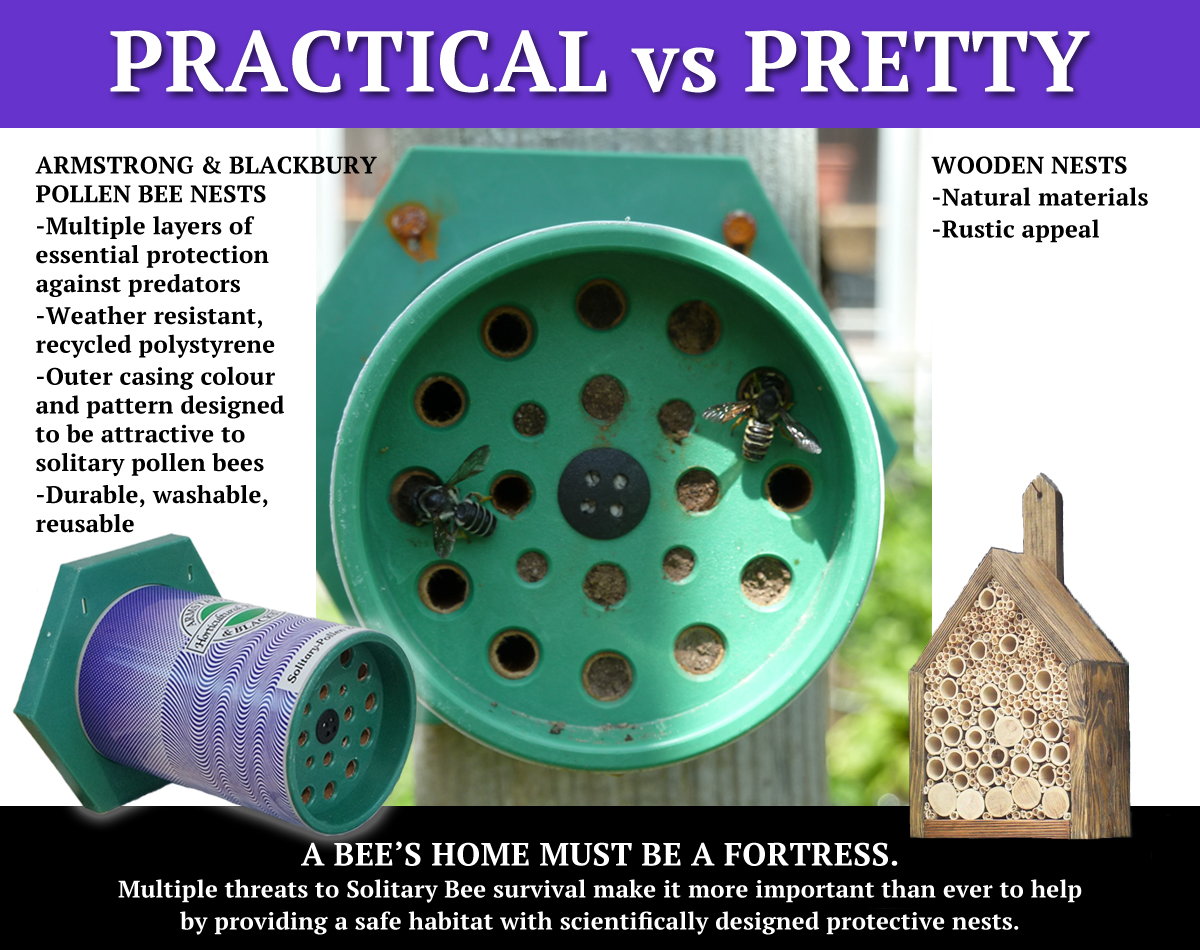 Practical vs Pretty For Pollen Bees